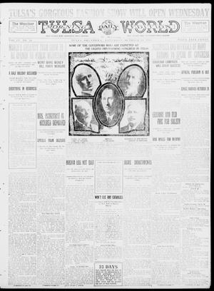 Primary view of object titled 'Tulsa Daily World (Tulsa, Okla.), Vol. 9, No. 28, Ed. 1 Sunday, October 19, 1913'.