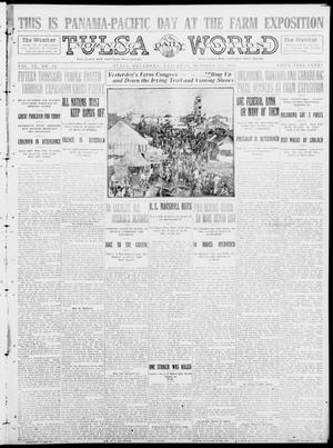 Primary view of object titled 'Tulsa Daily World (Tulsa, Okla.), Vol. 9, No. 34, Ed. 1 Saturday, October 25, 1913'.