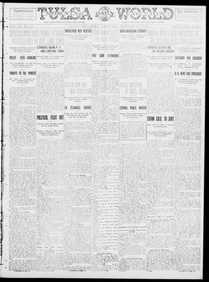 Primary view of object titled 'Tulsa Daily World (Tulsa, Okla.), Vol. 9, No. 38, Ed. 1 Thursday, October 30, 1913'.