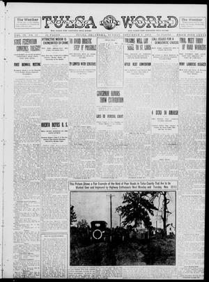 Primary view of object titled 'Tulsa Daily World (Tulsa, Okla.), Vol. 9, No. 47, Ed. 1 Sunday, November 9, 1913'.