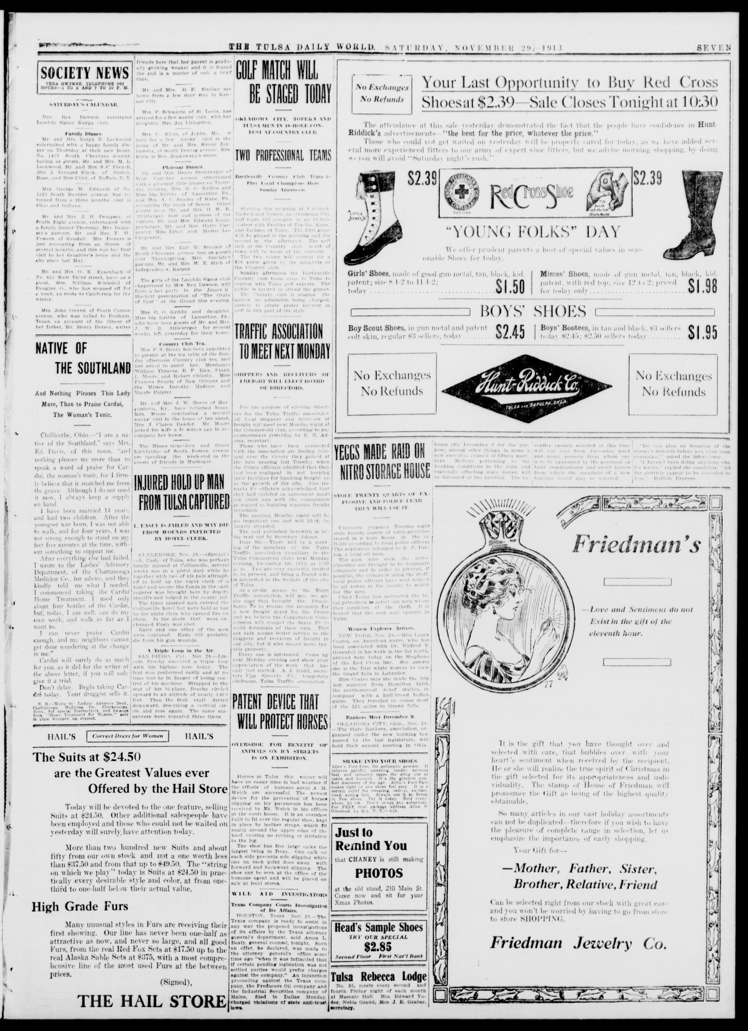 Tulsa Daily World (Tulsa, Okla ), Vol  9, No  64, Ed  1 Saturday