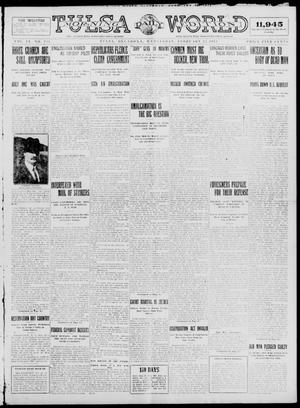 Primary view of object titled 'Tulsa Daily World (Tulsa, Okla.), Vol. 9, No. 135, Ed. 1 Wednesday, February 25, 1914'.