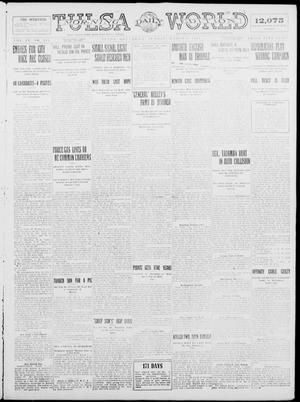 Primary view of object titled 'Tulsa Daily World (Tulsa, Okla.), Vol. 9, No. 145, Ed. 1 Sunday, March 8, 1914'.