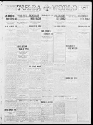 Primary view of object titled 'Tulsa Daily World (Tulsa, Okla.), Vol. 9, No. 154, Ed. 1 Thursday, March 19, 1914'.
