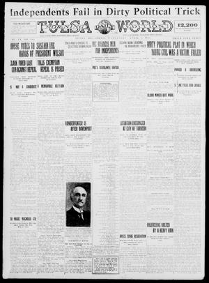 Primary view of object titled 'Tulsa Daily World (Tulsa, Okla.), Vol. 9, No. 164, Ed. 1 Wednesday, April 1, 1914'.