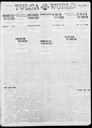 Primary view of object titled 'Tulsa Daily World (Tulsa, Okla.), Vol. 9, No. 175, Ed. 1 Sunday, April 12, 1914'.