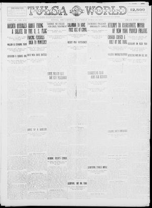 Primary view of object titled 'Tulsa Daily World (Tulsa, Okla.), Vol. 9, No. 180, Ed. 1 Saturday, April 18, 1914'.
