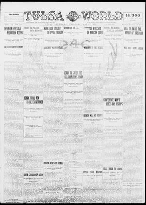 Primary view of object titled 'Tulsa Daily World (Tulsa, Okla.), Vol. 9, No. 208, Ed. 1 Thursday, May 21, 1914'.