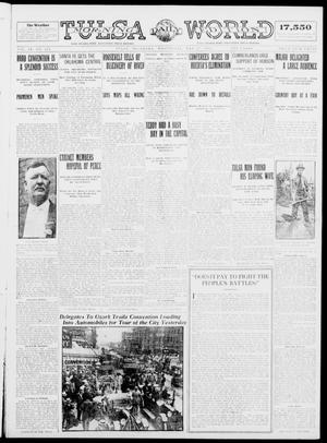 Primary view of object titled 'Tulsa Daily World (Tulsa, Okla.), Vol. 9, No. 213, Ed. 1 Wednesday, May 27, 1914'.