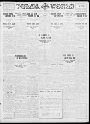 Primary view of object titled 'Tulsa Daily World (Tulsa, Okla.), Vol. 9, No. 263, Ed. 1 Saturday, July 25, 1914'.
