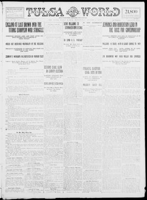 Primary view of object titled 'Tulsa Daily World (Tulsa, Okla.), Vol. 9, No. 271, Ed. 1 Wednesday, August 5, 1914'.