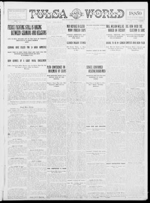Primary view of object titled 'Tulsa Daily World (Tulsa, Okla.), Vol. 9, No. 274, Ed. 1 Saturday, August 8, 1914'.