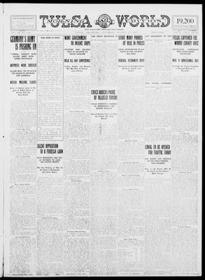 Primary view of object titled 'Tulsa Daily World (Tulsa, Okla.), Vol. 9, No. 280, Ed. 1 Saturday, August 15, 1914'.