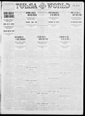 Primary view of object titled 'Tulsa Daily World (Tulsa, Okla.), Vol. 9, No. 283, Ed. 1 Wednesday, August 19, 1914'.