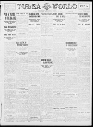 Primary view of object titled 'Tulsa Daily World (Tulsa, Okla.), Vol. 9, No. 289, Ed. 1 Wednesday, August 26, 1914'.