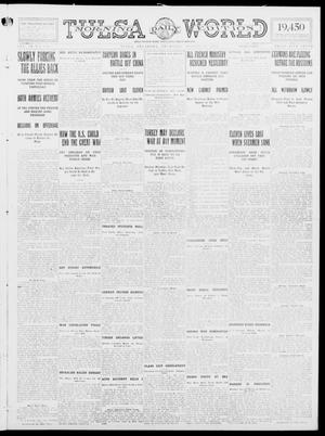Primary view of object titled 'Tulsa Daily World (Tulsa, Okla.), Vol. 9, No. 290, Ed. 1 Thursday, August 27, 1914'.