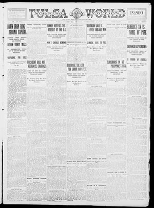 Primary view of object titled 'Tulsa Daily World (Tulsa, Okla.), Vol. 9, No. 297, Ed. 1 Friday, September 4, 1914'.