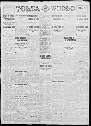 Primary view of object titled 'Tulsa Daily World (Tulsa, Okla.), Vol. 10, No. 9, Ed. 1 Saturday, October 3, 1914'.