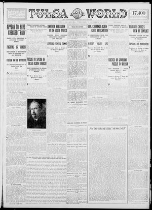 Primary view of object titled 'Tulsa Daily World (Tulsa, Okla.), Vol. 10, No. 30, Ed. 1 Wednesday, October 28, 1914'.