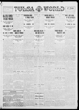Primary view of object titled 'Tulsa Daily World (Tulsa, Okla.), Vol. 10, No. 45, Ed. 1 Saturday, November 14, 1914'.