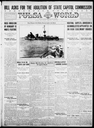 Primary view of object titled 'Tulsa Daily World (Tulsa, Okla.), Vol. 10, No. 92, Ed. 1 Friday, January 8, 1915'.