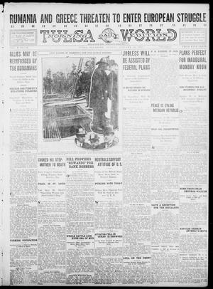 Primary view of object titled 'Tulsa Daily World (Tulsa, Okla.), Vol. 10, No. 94, Ed. 1 Sunday, January 10, 1915'.