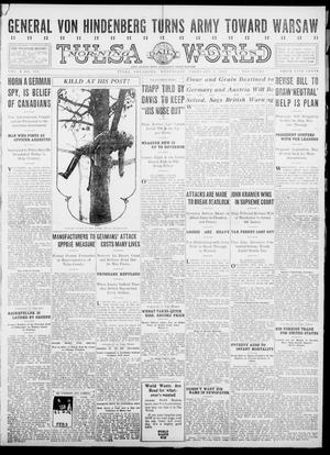 Primary view of object titled 'Tulsa Daily World (Tulsa, Okla.), Vol. 10, No. 114, Ed. 1 Wednesday, February 3, 1915'.