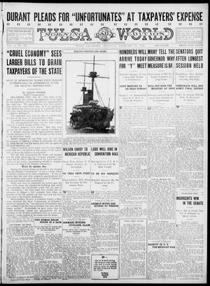 Primary view of object titled 'Tulsa Daily World (Tulsa, Okla.), Vol. 10, No. 121, Ed. 1 Thursday, February 11, 1915'.