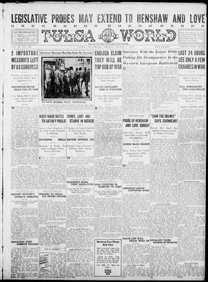 Primary view of object titled 'Tulsa Daily World (Tulsa, Okla.), Vol. 10, No. 140, Ed. 1 Friday, March 5, 1915'.