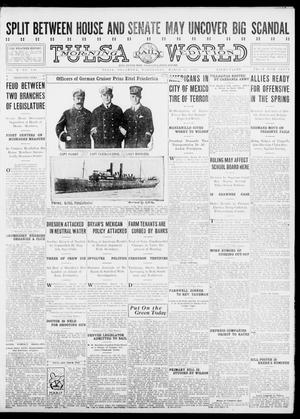 Primary view of object titled 'Tulsa Daily World (Tulsa, Okla.), Vol. 10, No. 150, Ed. 1 Wednesday, March 17, 1915'.