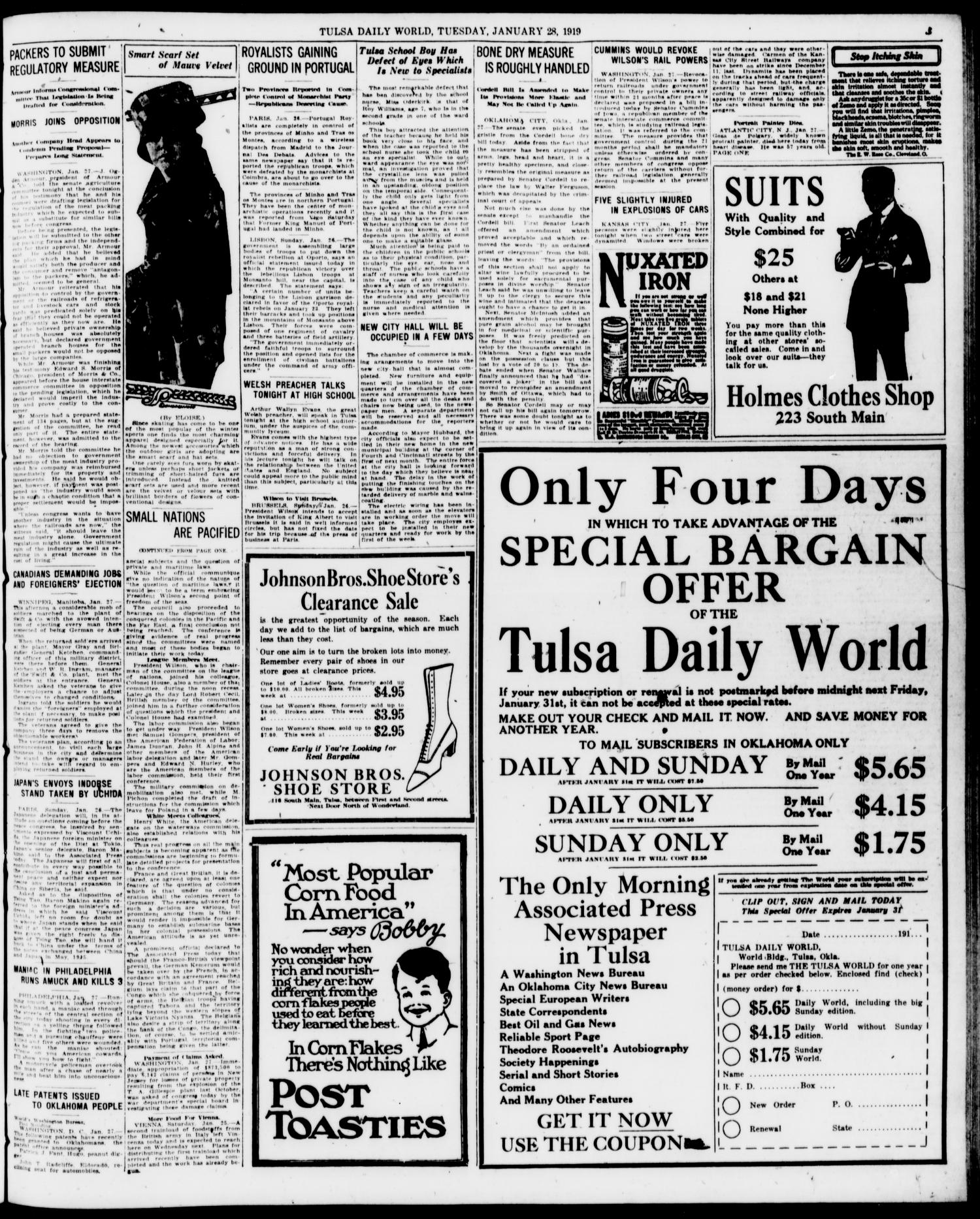 Tulsa Daily World (Tulsa, Okla ), Vol  13, No  127, Ed  1