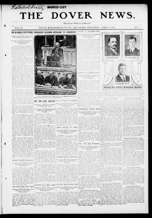 Primary view of object titled 'The Dover News. (Dover, Okla.), Vol. 13, No. 6, Ed. 1 Thursday, April 17, 1913'.