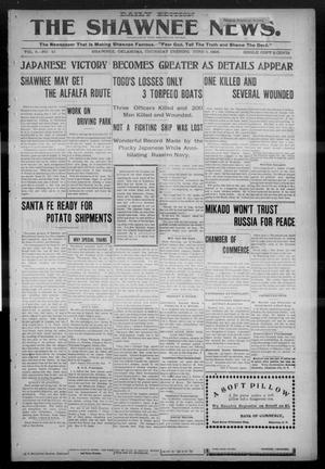 Primary view of object titled 'The Shawnee News. (Shawnee, Okla.), Vol. 5, No. 41, Ed. 1 Thursday, June 1, 1905'.