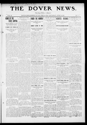 Primary view of object titled 'The Dover News. (Dover, Okla.), Vol. 13, No. 15, Ed. 1 Thursday, June 19, 1913'.
