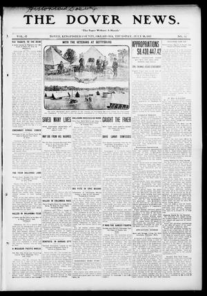 Primary view of object titled 'The Dover News. (Dover, Okla.), Vol. 13, No. 13, Ed. 1 Thursday, July 10, 1913'.
