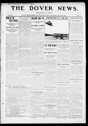 Primary view of object titled 'The Dover News. (Dover, Okla.), Vol. 13, No. 14, Ed. 1 Thursday, July 17, 1913'.