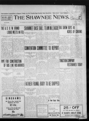 Primary view of object titled 'The Shawnee News. (Shawnee, Okla.), Vol. 10, No. 20, Ed. 1 Thursday, January 10, 1907'.