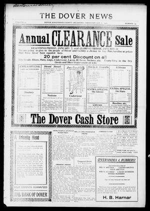 Primary view of object titled 'The Dover News (Dover, Okla.), Vol. 15, No. 39, Ed. 1 Thursday, January 6, 1916'.