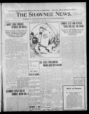 Primary view of object titled 'The Shawnee News. (Shawnee, Okla.), Vol. 10, No. 211, Ed. 1 Thursday, August 22, 1907'.