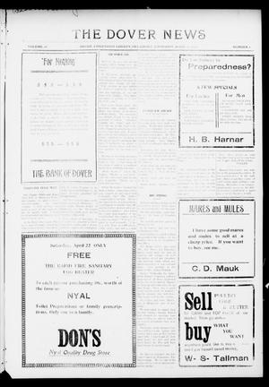 Primary view of object titled 'The Dover News (Dover, Okla.), Vol. 16, No. 2, Ed. 1 Thursday, April 20, 1916'.