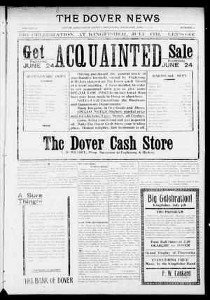 Primary view of object titled 'The Dover News (Dover, Okla.), Vol. 16, No. 11, Ed. 1 Thursday, June 22, 1916'.