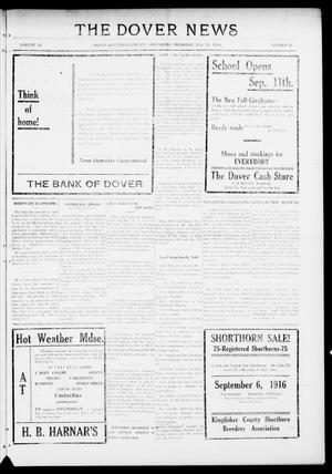 Primary view of object titled 'The Dover News (Dover, Okla.), Vol. 16, No. 20, Ed. 1 Thursday, August 24, 1916'.