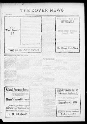 Primary view of object titled 'The Dover News (Dover, Okla.), Vol. 16, No. 21, Ed. 1 Thursday, August 31, 1916'.