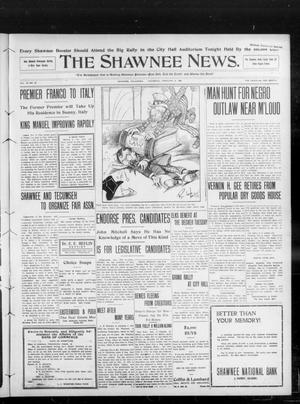 Primary view of object titled 'The Shawnee News. (Shawnee, Okla.), Vol. 13, No. 98, Ed. 1 Thursday, February 6, 1908'.