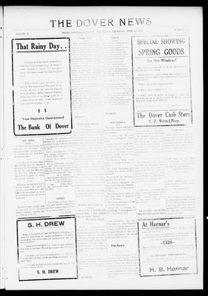 Primary view of object titled 'The Dover News (Dover, Okla.), Vol. 17, No. 1, Ed. 1 Thursday, April 12, 1917'.