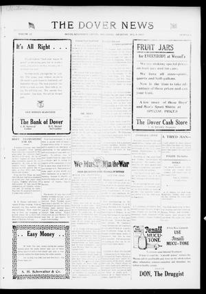 Primary view of object titled 'The Dover News (Dover, Okla.), Vol. 17, No. 8, Ed. 1 Thursday, August 9, 1917'.