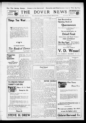 Primary view of object titled 'The Dover News (Dover, Okla.), Vol. 17, No. 45, Ed. 1 Thursday, March 28, 1918'.