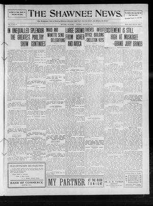 Primary view of object titled 'The Shawnee News. (Shawnee, Okla.), Vol. 14, No. 65, Ed. 1 Thursday, January 28, 1909'.