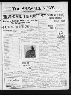 Primary view of object titled 'The Shawnee News. (Shawnee, Okla.), Vol. 14, No. 77, Ed. 1 Thursday, February 11, 1909'.