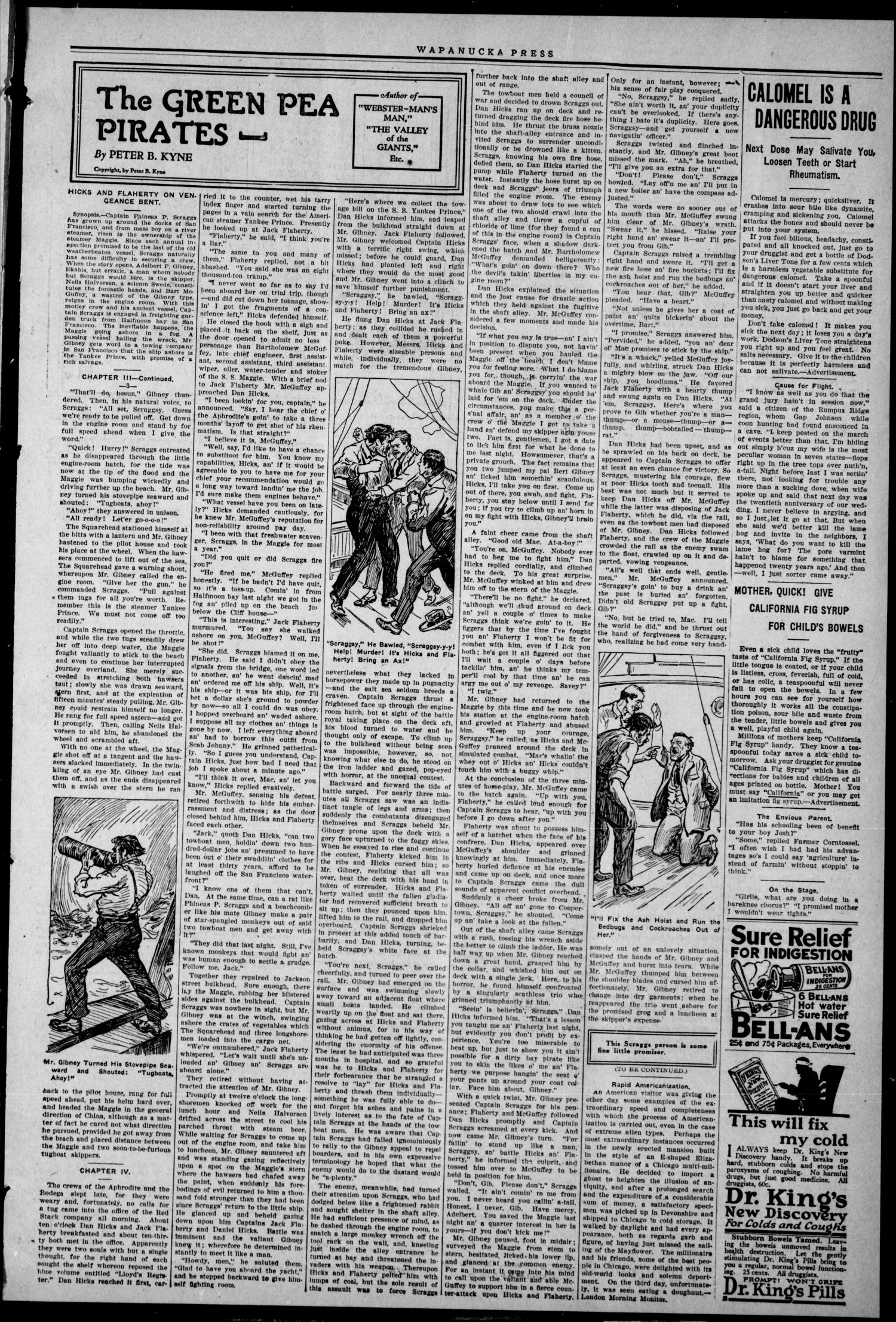The Wapanucka Press (Wapanucka, Okla.), Vol. 21, No. 29, Ed. 1 Friday, December 9, 1921                                                                                                      [Sequence #]: 3 of 8